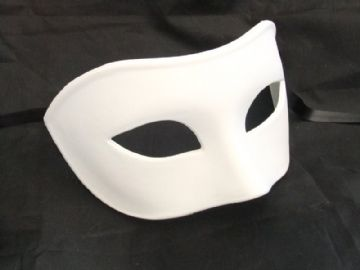 Genuine Venetian Matt White Mask
